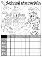 Coloring book school timetable 6 - picture illustration.