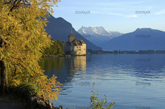 Castle Chillon at Lac Leman,Montreux, Switzerland