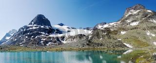 Mountain lake panorama
