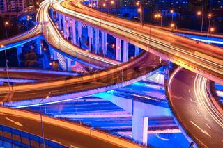 beautiful city interchange overpass closeup