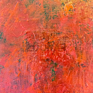 Art abstract painted background in red color