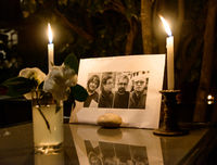 Gathering in tribute to the victims of the Paris terrorist attac