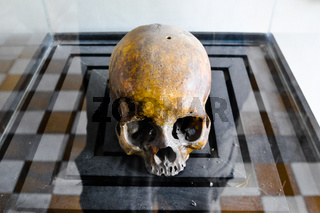 Skulls from the Killing Fields in Cambodia, this happened from around 1975 till 1979.
