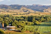 Colorado foothills farmland