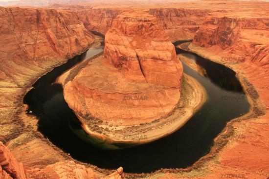 Horseshoe bend seen from overlook, Arizona
