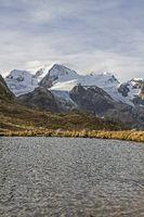 Mountain lake on the Susten Pass
