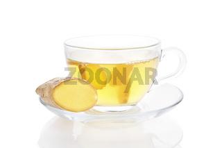 Healthy ginger tea.