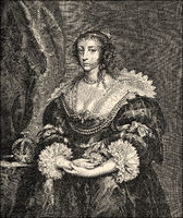 Henrietta Maria of France,  1609 - 1669, queen consort of England, Scotland, and Ireland