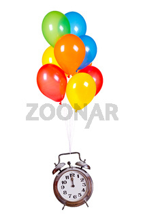 old alarm bell with balloons