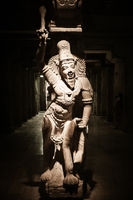 Statue of Indian god Ganesha at Hindu Temple. South India, Tamil Nadu, Madurai