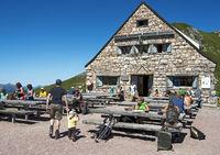 mountain hut Pfaelzerhuette, Liechtenstein