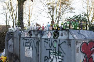 Haufen von Müll Müllentsorgung