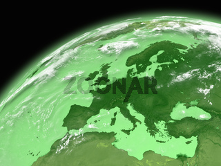 Europe on green Earth