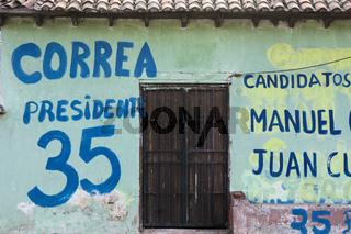 Wahlwerbung in Ekuador