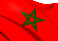 Flag of Morocco. Close Up.