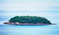 A small island in the open sea