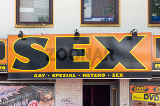 Sex Shop Sign Hamburg