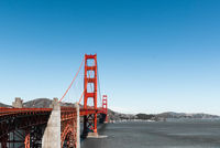 San Francisco Golden Gate Bridge red Pillar