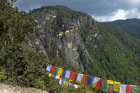 Cliff with the Tiger's Nest Monastery, Bhutan