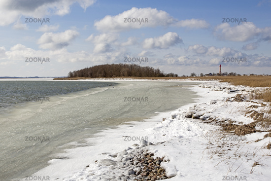Frozen Baltic Sea, Fehmarn, Germany, Europe