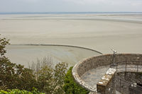 mudflats at low tide,Mont-Saint-Michel, Normandie