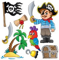 Pirate thematics collection 1 - picture illustration.