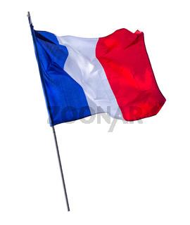 Isolated French Flagpole