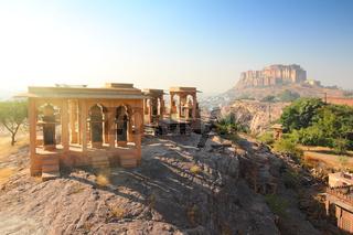 Jodhpur India - Jaswant Thada and fort