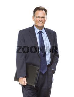 Handsome Businessman Portrait on White