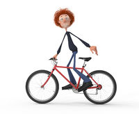 The 3D student by bicycle.