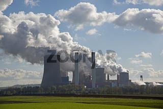Kraftwerk Neurath, Braunkohlekraftwerk BoA 2&3, Grevenbroich, Rheinland, Nordrhein-Westfalen, Deutschland, Europa