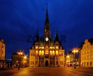 Liberec Rathaus Nacht - Liberec townhall night 01