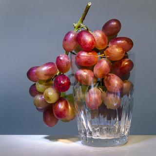 Weintrauben im Glas