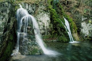 Wasserfall; Gueterstein; Bad Urach; Schwaebische Alb;