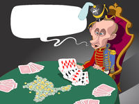 Russian president Putin and his military cards