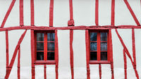 Half-timbered house detail