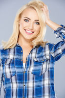 Smiling healthy young blond woman