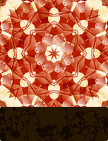 Mandala with blank banner