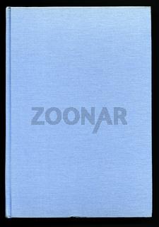Bucheinband aus hellblauem Stoff