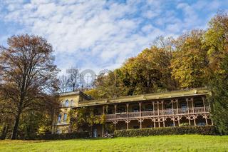 Villa Bellevue im Badepark, Bad Muskau, Sachsen, Deutschland