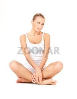 beautiful woman in cotton undrewear