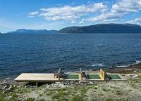 Empty sun deck at Sognefjorden,Brekke