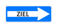 german one way sign