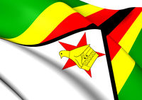 Flag of Zimbabwe. Close Up.