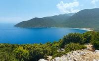 Top summer view of Antisamos beach (Greece,  Kefalonia).