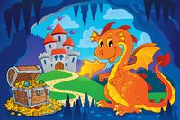 Fairy tale image with dragon 7 - picture illustration.
