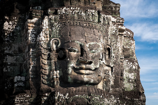 Buddha faces of Bayon temple. Angkor Wat, Cambodia