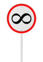 Infinite speed road sign