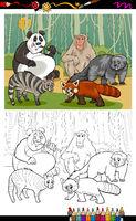 funny animals cartoon coloring book