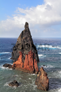 The red and gray cliffs